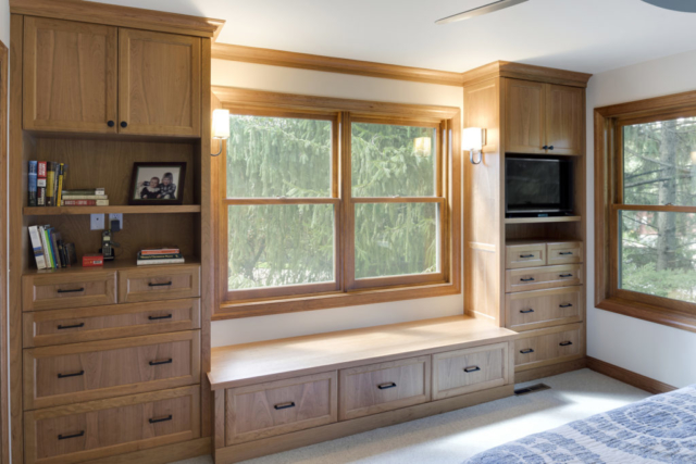 Bedroom built-in cabinets