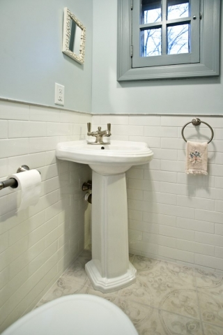 Orange Ave Powder Room