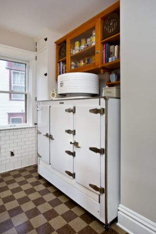 1930s fridge with custom cabinet