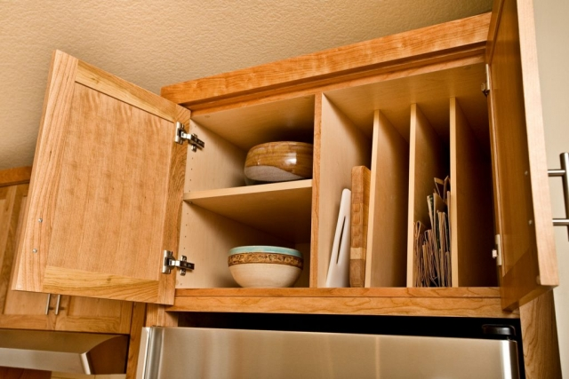 Vertical cabinet storage photo