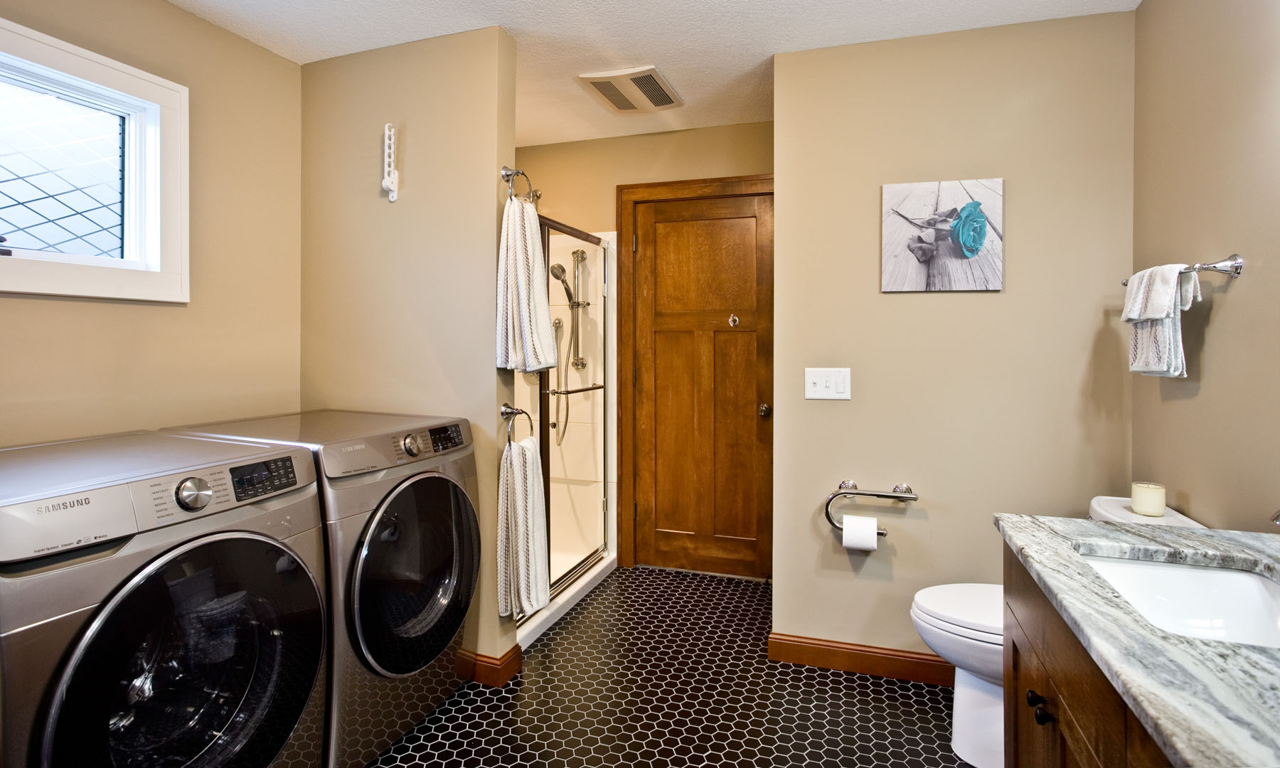 Combination bath and laundry