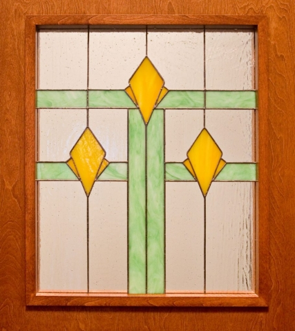 Custom stained glass door panel
