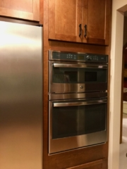 Double wall ovens with speed cooking
