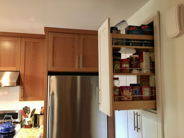 Pull-out pantry cabinet