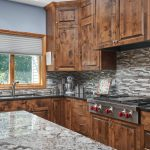 Wolf range and mixed mosaic tile