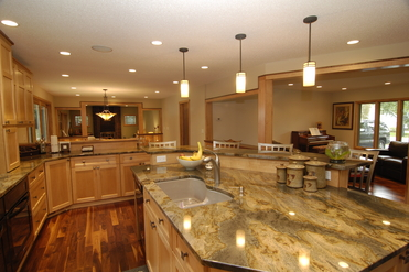 Open floor plan kitchen in Bloomington