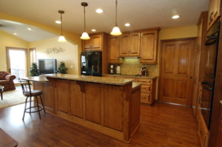 kitchenIsland with stepped counter