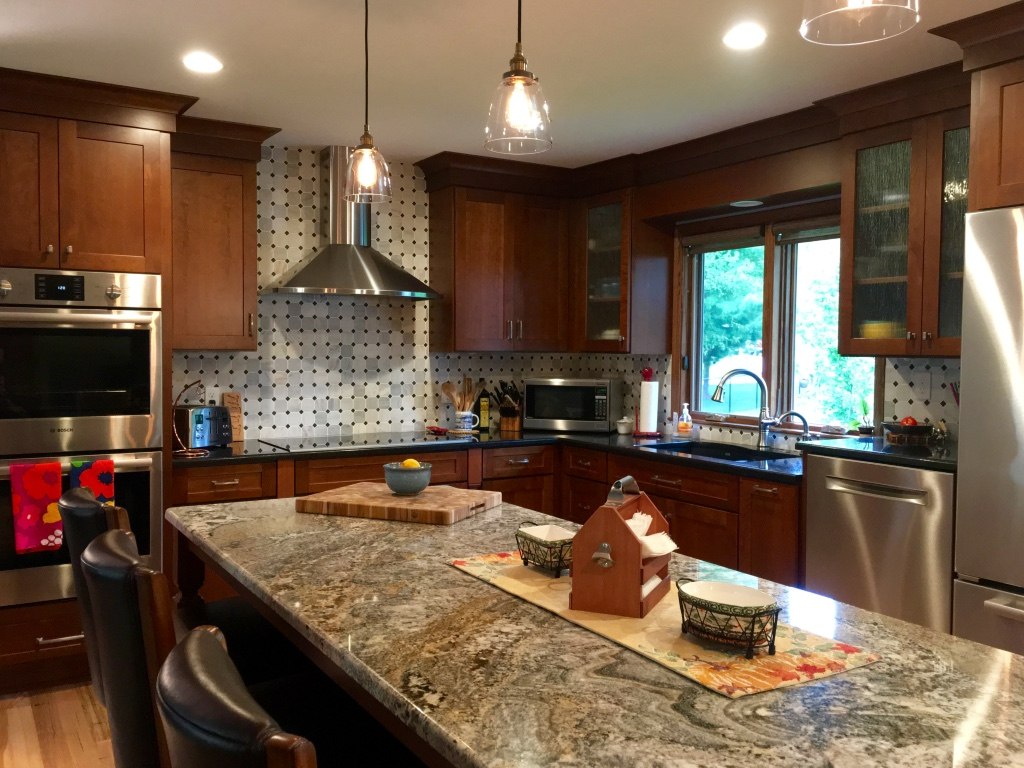 Cherry kitchen with center island