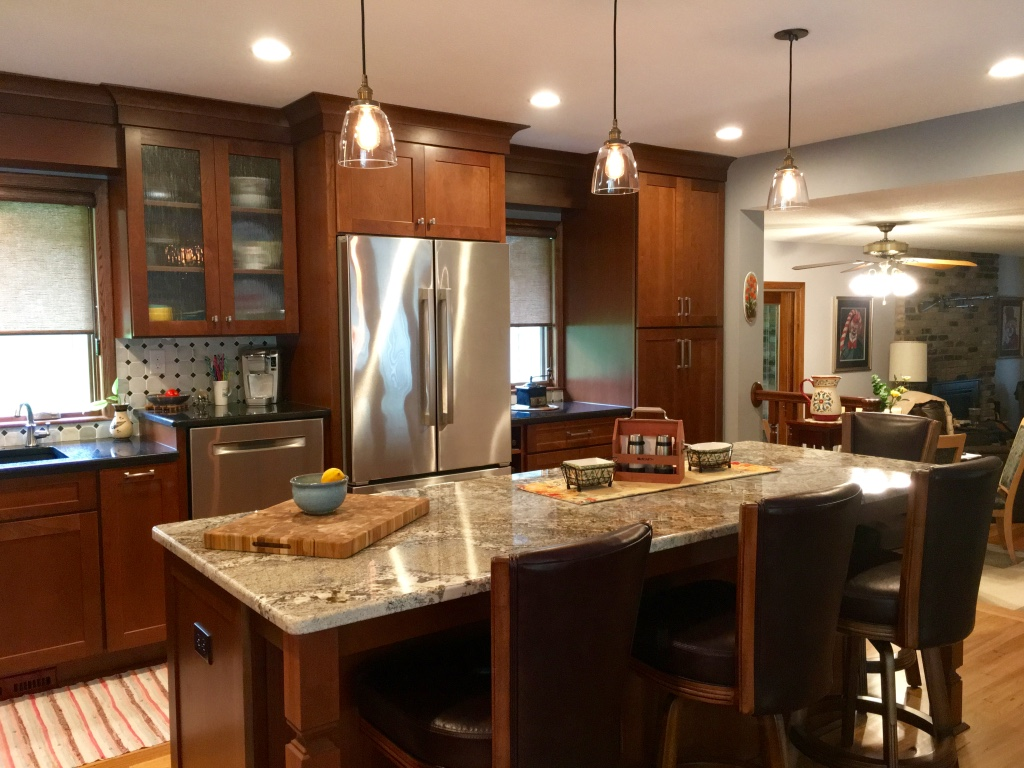 Cherry center island kitchen
