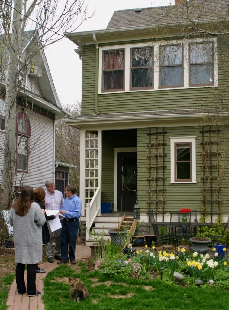 JB reviews addition plans with St. Paul clients