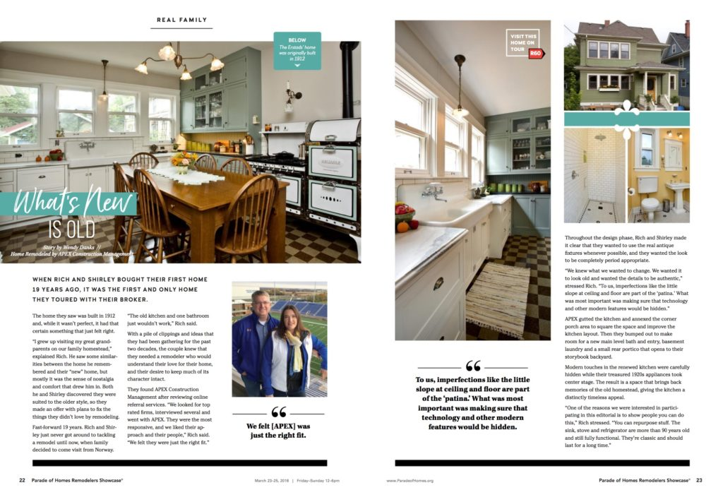Remodelers Showcase guidebook article