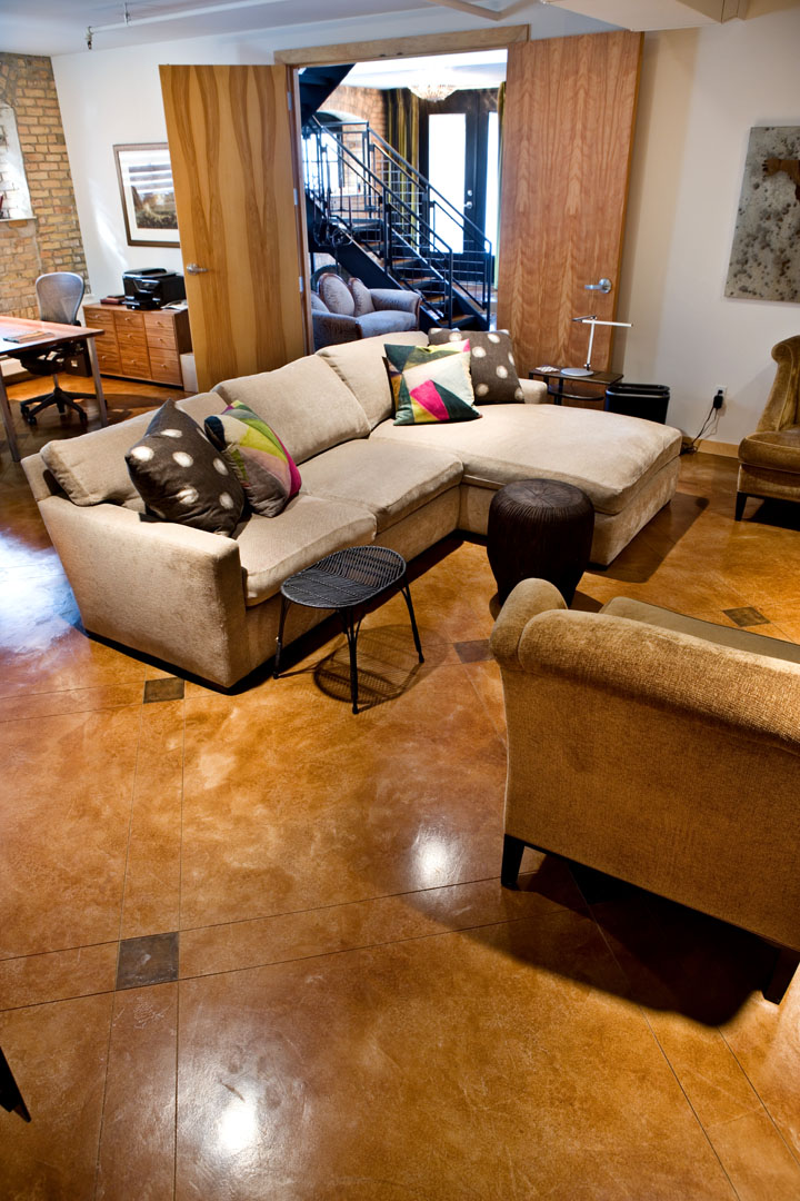 North Star Lofts decorative concrete floor photo