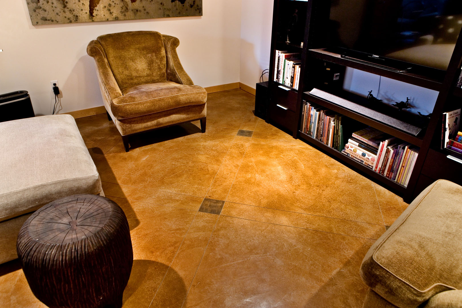 Decorative concrete floor photo