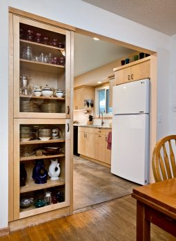 kitchen remodel with built-in china cabinet