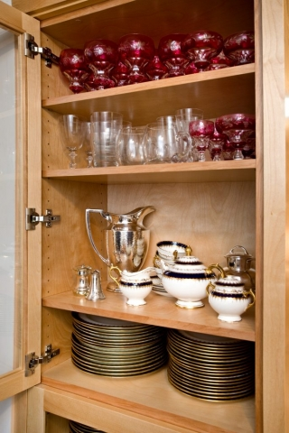 kitchen remodel showcases heirloom china