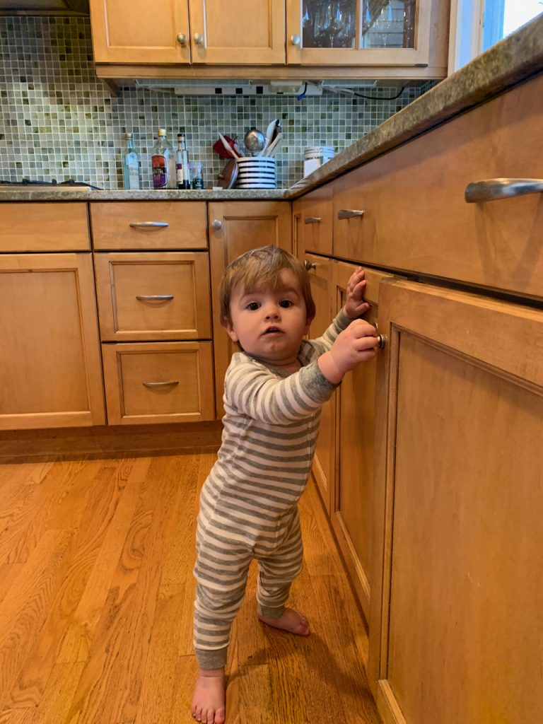 toddler on healthy hard flooring