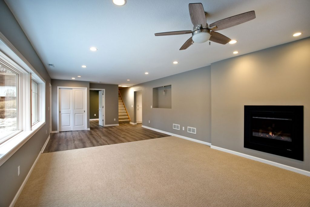 remodeled basement photo
