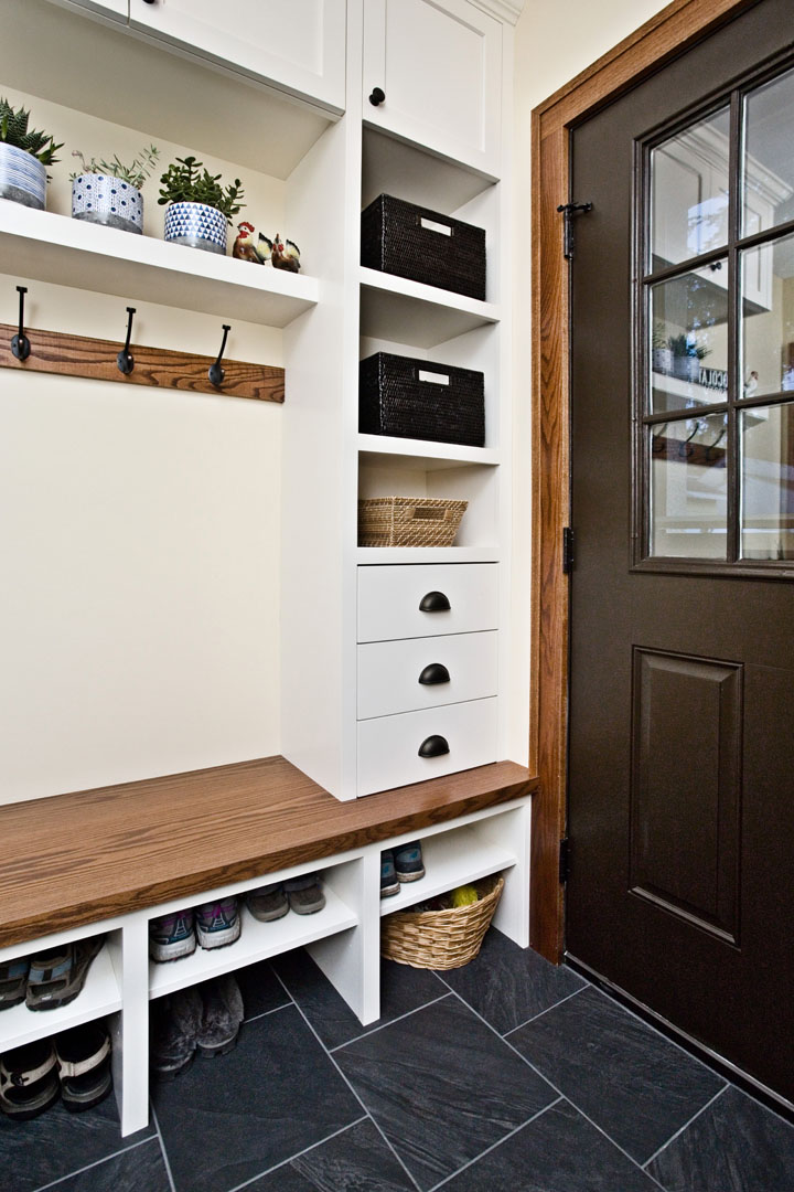 Mudroom addition with storage