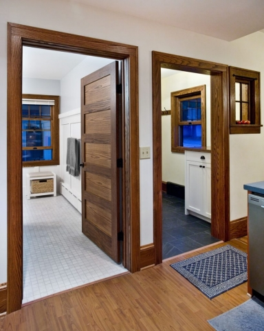wide bath door