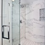 Heavy-glass shower door