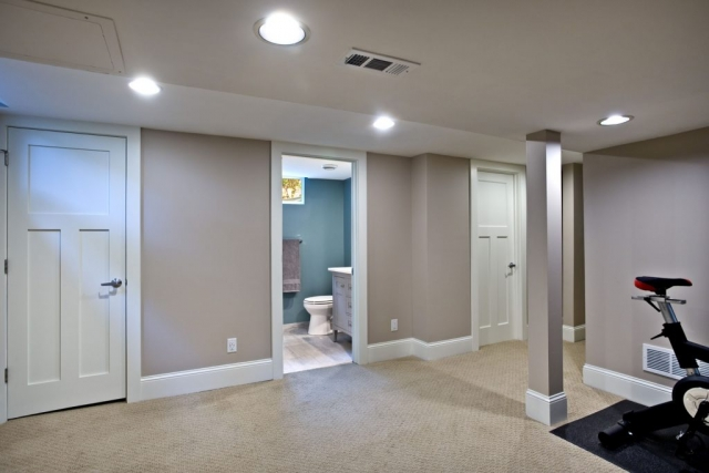 basement exercise space